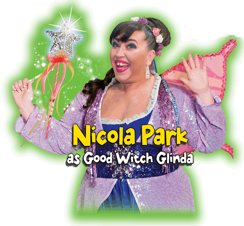 Nicola Park as the Good Fairy Glinda